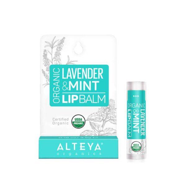 alteya lip balms lavender and mint organic lip care 1