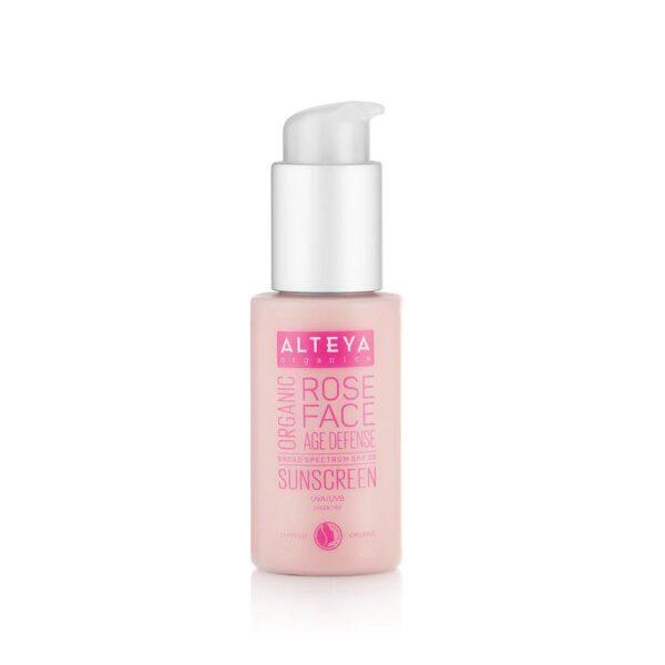 alteya organic sunscreen rose face cream spf30 50ml 1