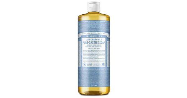 dr bronner organic baby unscented castile liquid soap 946ml 1fb