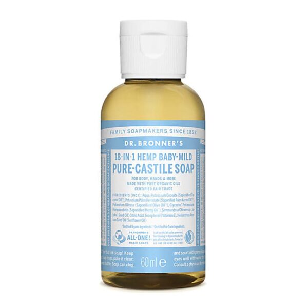 dr bronners baby unscented castile 60ml 1