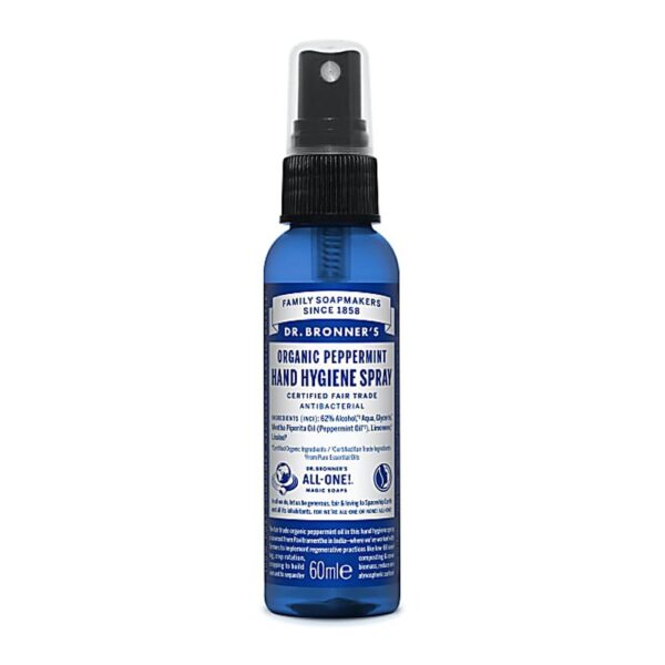 dr bronners peppermint hand hygeine spray 1