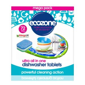 ecozone dishwasher ultra all in one tablets 72