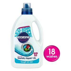 ecozone laundry liquid non bio 18 washes 1 5ltr 1