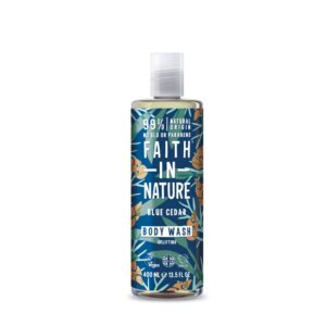 faith in nature blue cedar bodywash 1