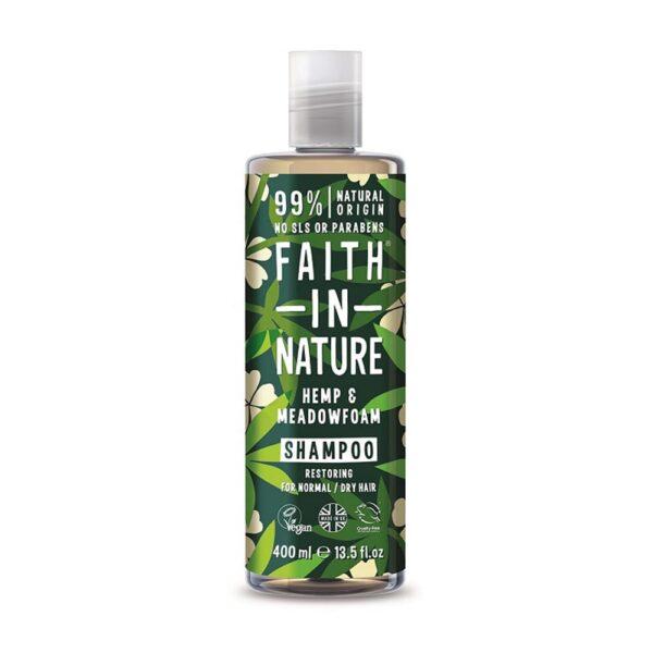faith in nature hemp meadowfoam shampoo 1