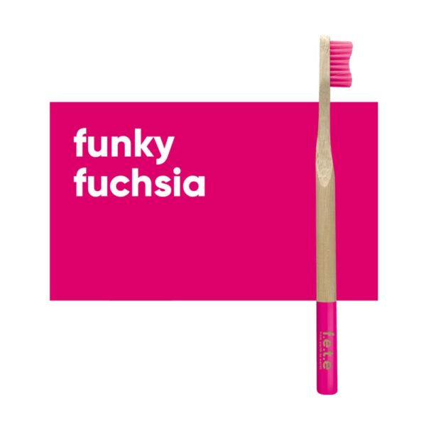 fete adult toothbrush pink soft 1