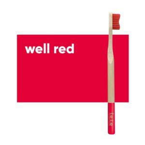 fete adult toothbrush red medium 1