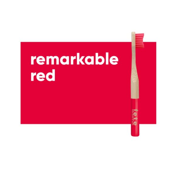 fete childrens toothbrush red 1