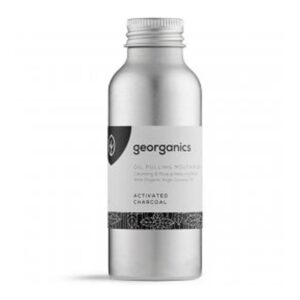 georganics oil pulling mouthwash activated charcoal 100ml 1
