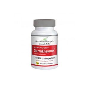 good health naturally serra enzyme 250000iu maximum strength serrapeptase 90 capsules 1