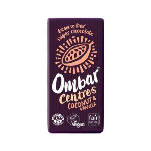 ombar coconut vanilla centres 70g 1