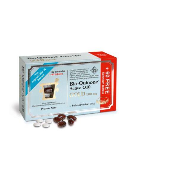 pharmanord bio quinone q10 gold selenoprecise 120caps 1