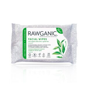 rawganic facial wipes green tea aloe 1