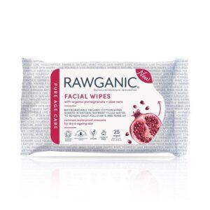 rawganic organic anti aging facial wipes pomegranate 25 wipes 1