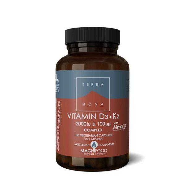 terranova vitamin d iu k ug complex caps wiz