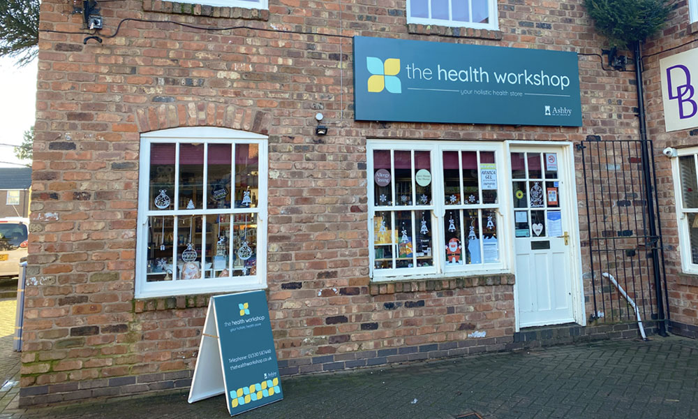The Health Workshop Retail Shop and Therapy Rooms in Ashby De La Zouch