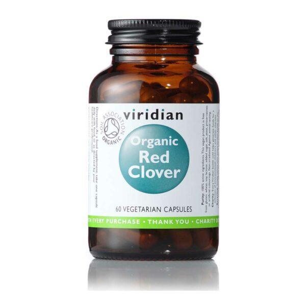 viridian organic red clover caps