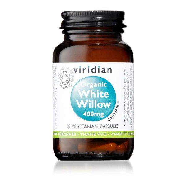 viridian organic white willow mg caps