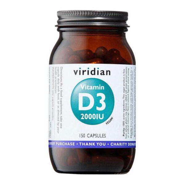 viridian vitamin d3 2000iu 150caps 1