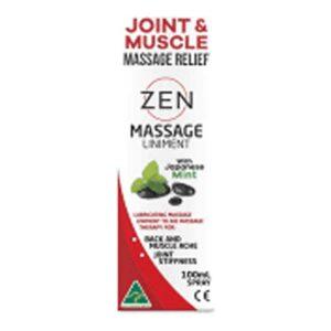 zen massage liniment joint muscle relief